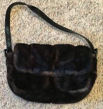 Handbag Faux Fur Maison De La Fausse Fourrure Black Small Purse