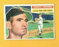 D16687  1956 Topps #50 Dusty Rhodes  GIANTS CARD
