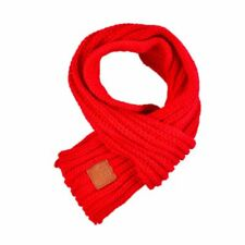 Kids Children Knitted Scarf Thickened Winter Neck Warmer Shawl Rubber Scarves