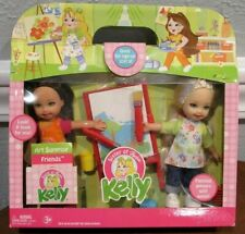 "New Barbie ""Art Surprise Friends"" Kelly & Gia Gift Set - 6"" Dolls - Nrfb"