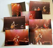 7 original photos THE STRAY CATS on stage in France early 80's