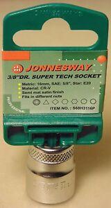 "Jonnesway 16mm Super Tech 3/8"" Drive Socket for Nissan Toyota Mazda Ford Audi VW"