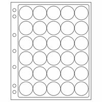 Lighthouse ENCAP 32/33 Clear Pages for 30 Coin Capsules  - Perfect for 50c Coins