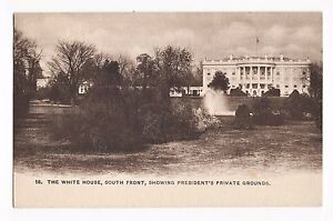 1898 Vintage Postcard THE WHITE HOUSE SOUTH FRONT PRESIDENT'S GROUNDS Washington
