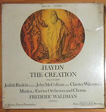 "SEALED=HAYDN ""THE CREATION""; RASKIN, WALDMAN; DECCA GOLD LABEL STEREO; 2 LPS"