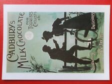 POSTCARD  ART ADVERT - CABURY'S MILK CHOCOLATE FOR TOURISTS CYCLISTS ETC
