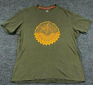 Club Ride Men's Medium Cycling T-Shirt Graphic CR Athletic Tee Green/Yellow