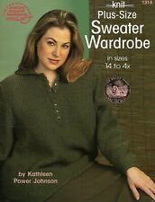 Knit Plus Size Sweater Wardrobe Knitting Sizes 14 to 4x