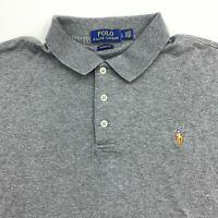 Polo Ralph Lauren Polo Shirt Men's Large Short Sleeve Gray Classic Fit Cotton