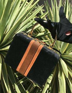 Harry Rosenfeld Black Velvet Handbag  (J12)