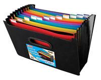 A4 Horizontal Negro & Colorido 13 Parte Escritorio Carpeta Expandible