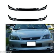 2 X 1999-2000 CIVIC 2 3 4 DOOR MU-GEN PU BLACK ADD-ON FRONT BUMPER LIP SPOILER