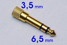 Klinke Adapter 6.5mm Stecker auf 3.5mm Buchse Klinke Adapter