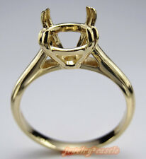 SOLID 10K YELLOW GOLD SOLITAIRE RING SEMI MOUNT RING ENGAGEMENT RING 9MM ROUND