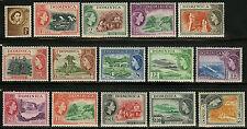 Dominica  1954   Scott # 142-156  MLH Set
