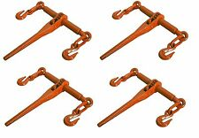 "4 PACK Ratcheting Load Binder 5/16""-3/8"" Chain Ratchet Boomer Tie Down Rigging"