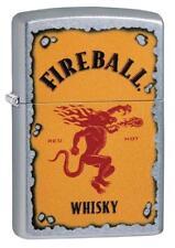 Zippo 29852, Fireball Whisky,  Street Chrome Lighter
