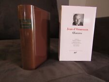 Jean d'Ormesson - Oeuvres - Gallimard Pléiade