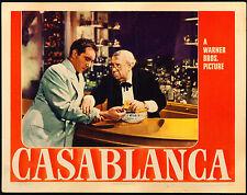 "Poster Casablanca 1942 Lobby Card 11""x14"" VF 7.5 Humphrey Bogart Claude Rains"