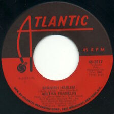 "ARETHA FRANKLIN Spanish Harlem/Lean On Me 7"" 1971 Atlantic EX"