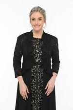 SleekTrends Womens Sequin Lace RuffledBolero jacket