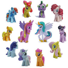 12 PCS My Little Pony Action Figures Cake Topper Kids Figurines Cartoon Play Set