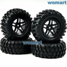 4pcs RC 1/10 96mm 1.9 Tires w/ Hex 12mm Wheels For Rock Crawler Truck Upgrade