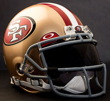 ***CUSTOM*** SAN FRANCISCO 49ers NFL Riddell ProLine AUTHENTIC Football Helmet