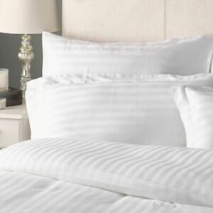 Hotel Quality Pillows Luxury Pack Of 2 Egyptian Strip Hollowfibre Filled Pillow