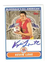 KEVIN LOVE 2007 Topps McDonald's All-American on card auto #KL