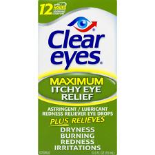 New Clear Eyes Maximum Itchy Eye Relief Eye Drops 0.5 Fl. Oz