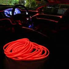 16.5ft LED Car Interior Decor Red Atmosphere Wire Strip Light Lamp Accessories