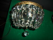 antique ceiling mount crystal light fixture
