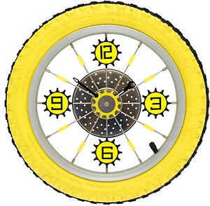 "Bicycle Wheel & Tyre Quartz Wall Clock 14"""
