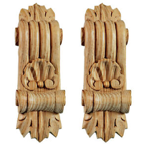 Wooden Furniture Applique Brackets with Shell & Leaf, Paint Grade in Pine, PG596