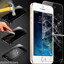100% GENUINE TEMPERED GLASS SCREEN PROTECTOR PROTECTION FOR APPLE iPHONE 5S 5C 5