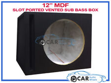 """12"""" Inch 30cm Vented Ported Black Carpeted Car Sub woofer MDF Bass Box Enclosure"""