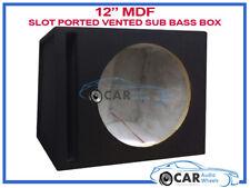 """12"""" pollici 30 cm CASCO versione elaborato NERO MOQUETTE AUTO SUB WOOFER BASS BOX IN MDF Enclosure"""