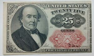 US 1874 25 cents Fractional currency banknote F-VF