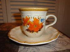Mikasa Flower Fest cup and saucer set EC400 and 452 dinnerware stoneware