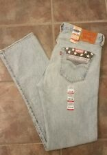 Levi's 501 Stretch White Oak Cone Mills Made in USA Jeans [IRREGULAR] Size 36x34