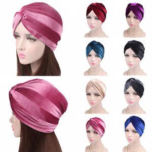 Samt Turban Hut Kreuz Twist Chemo Kappen Kopfverpackung Stirnbänder Muslim