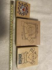 Stamps, Santa, Lot Of 3, New And Used