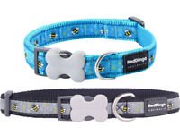 Red Dingo Blue or Black Manchester Bumble Bee Puppy Dog Collar Size XSmall-Large