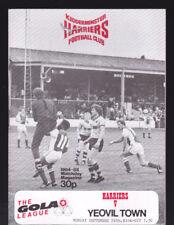 1984/85 KIDDERMINSTER HARRIERS V YEOVIL TOWN 24-09-1984 The Gola League