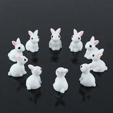 So Cute! 10Pcs Mini Rabbits DIY Bonsai Fairy Garden Terrarium Figurine Decor