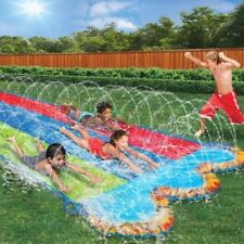 Inflatable Slip and Slide Play Triple Water Outdoor Slider Bounce Summer Fun Toy