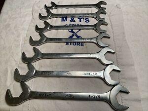 "Mac Tools 7 Piece 4-way Angled Wrench Set DA24-DA36 3/4"" - 1-1/8"""