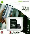 KINGSTON 32GB Micro SD SDHC Memory Card Class 10 Memory TF With SD Card Adapter  <br/> LATEST 100MB/s SPEED, OFFICIAL KINGSTON UK RESELLER