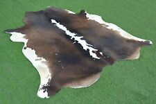Real Cow hide Hair on Cowhide Skin Area Rug Leather Carpet 2792 Large 5.5x5.5 Ft